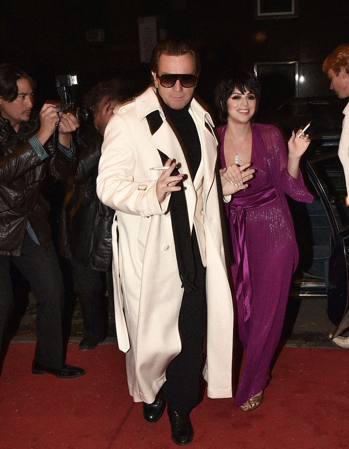 "Ewan McGregor as Roy Halston Frowick and Krysta Rodriguez as Liza Minnelli in ""Halston."""