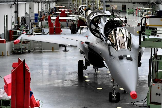 Un rafale dans l'usine Dassault-Aviation de Mérignac, près de Bordeaux, le 8 octobre