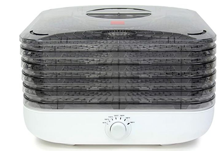 """<strong><a href=""""https://amzn.to/3ugxXPT"""" target=""""_blank"""" rel=""""noopener noreferrer"""">Get the Ronco Turbo EZ-Store 5-Tray Dehydrator for $69.99</a>.</strong> &nbsp;"""