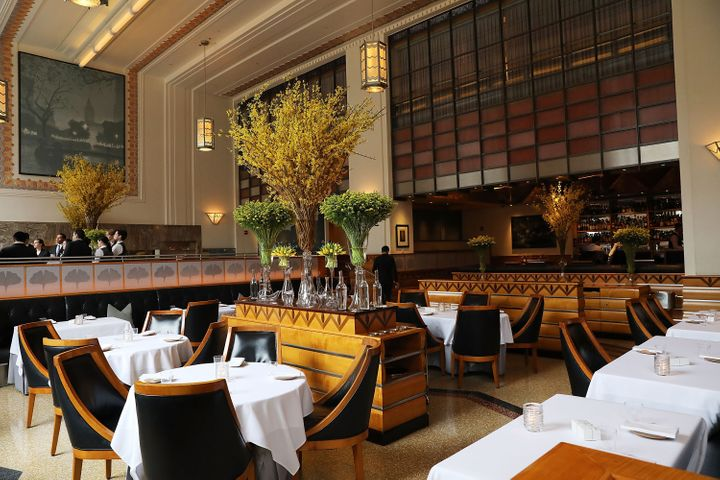 Eleven Madison Park's main dining roomf in 2017, the same year that it was named the world's best restaurant.