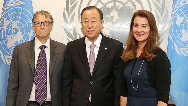 2015년 부부는 반기문 UN 사무총장을