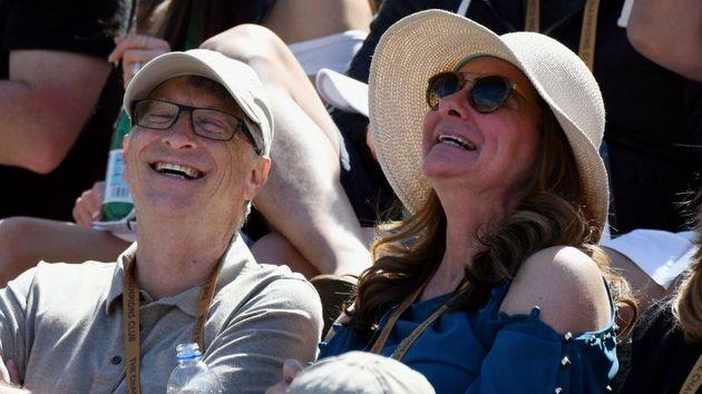 2019년 테니스 경기를 즐기는 빌 게이츠와 멀린다