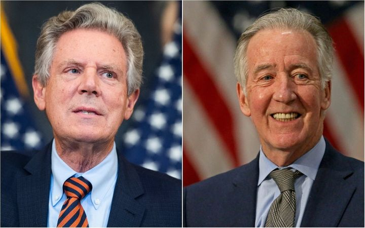 House Energy and Commerce Committee chair Frank Pallone (D-N.J.), left, and House Ways and Means Committee chair Richard Neal