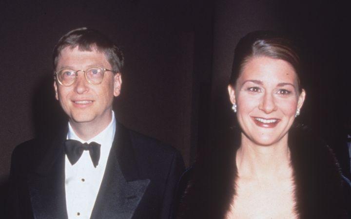 Bill y Melinda Gates, juntos en un acto en 1998.