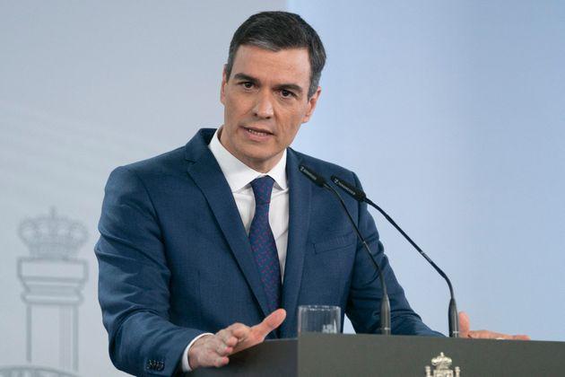 El presidente del Gobierno, Pedro Sánchez, en rueda de