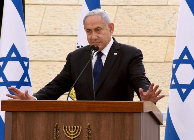 (Benjamin Netanyahu en avril 2021. Photo par DEBBIE HILL / POOL /