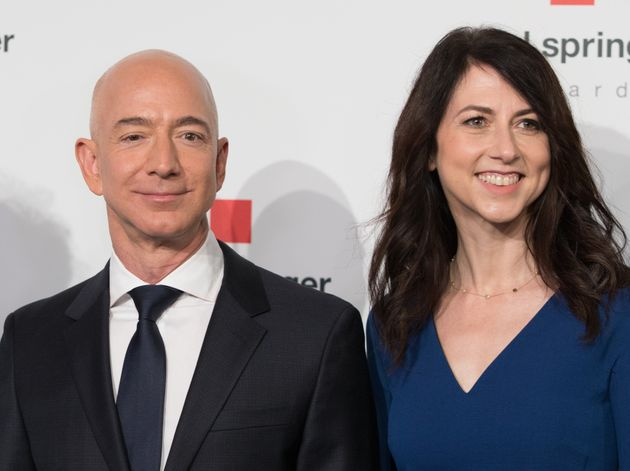 Head of Amazon Jeff Bezos and his ex wife MacKenzie