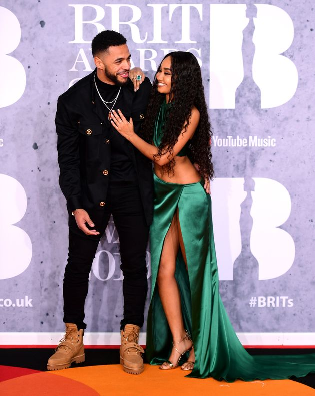 Andre Gray and Leigh-Anne Pinnock at the 2019 Brit