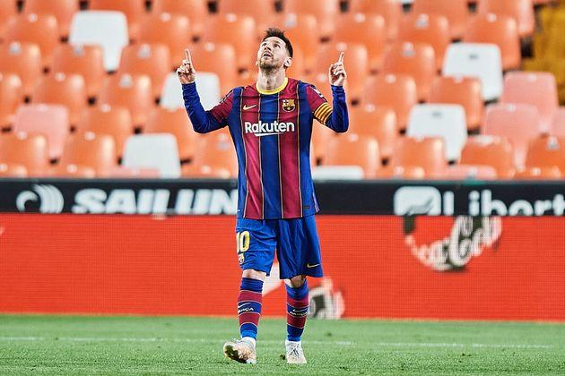 El capitán del FC Barcelona, Leo