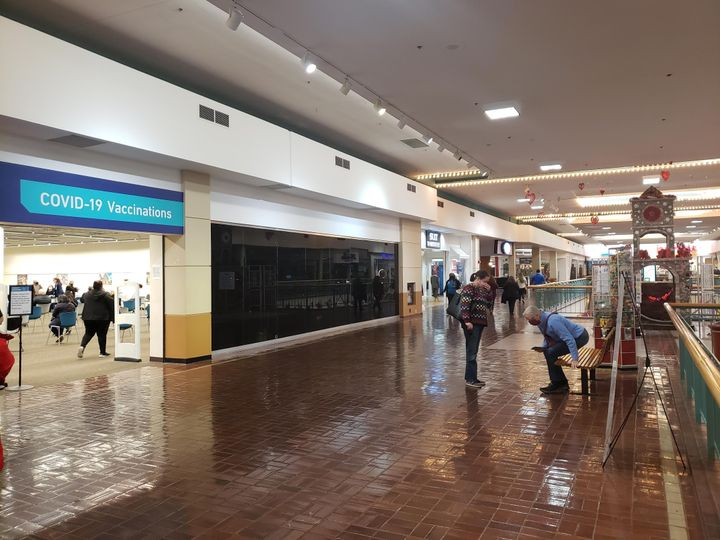 Nicolás Esparza said he got his COVID-19 vaccine at a former Woolworth in the Wonderland of the Americas Mall in San Antonio, Texas.