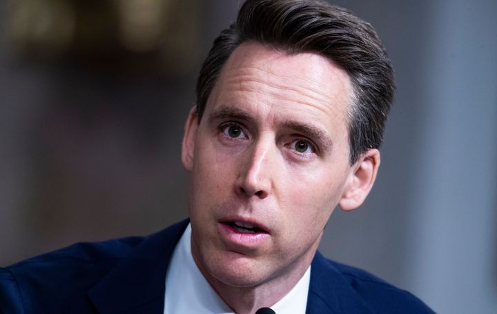 Sen. Josh Hawley (R-Mo.) said he has no regrets about raising his fist in solidarity with the mob that invaded the U.S. Capit