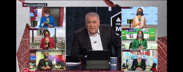 Antonio García Ferreras, durante el especial de 'Al Rojo Vivo' por las elecciones del