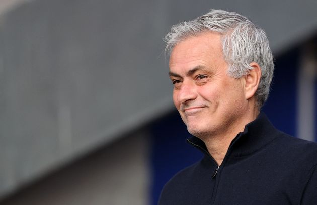 Tottenham Hotspur's Portuguese head coach Jose Mourinho reacts ahead of the English Premier League football...