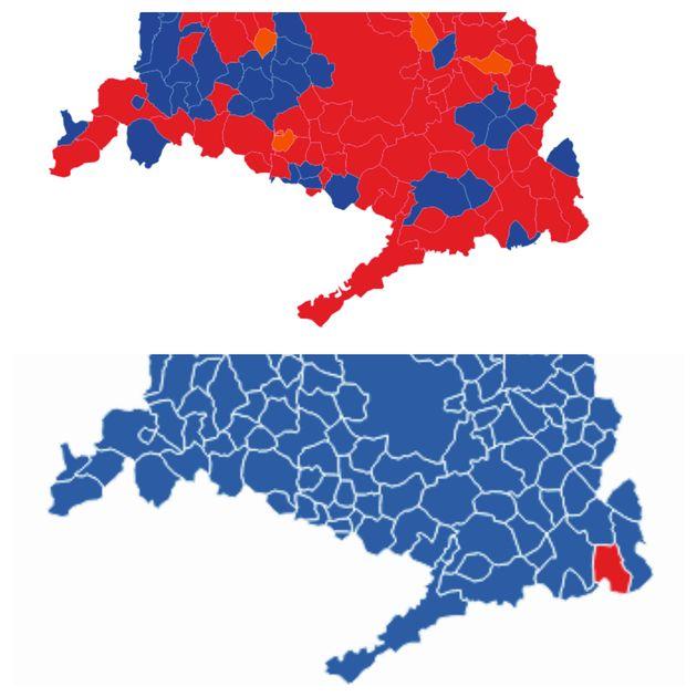 Resultados de las elecciones autonómicas en el sur de Madrid en 2019 y en