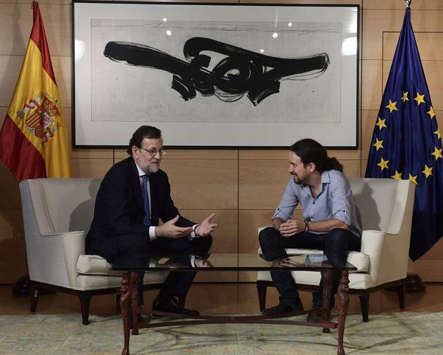 Mariano Rajoy y Pablo Iglesias, en una imagen de julio de