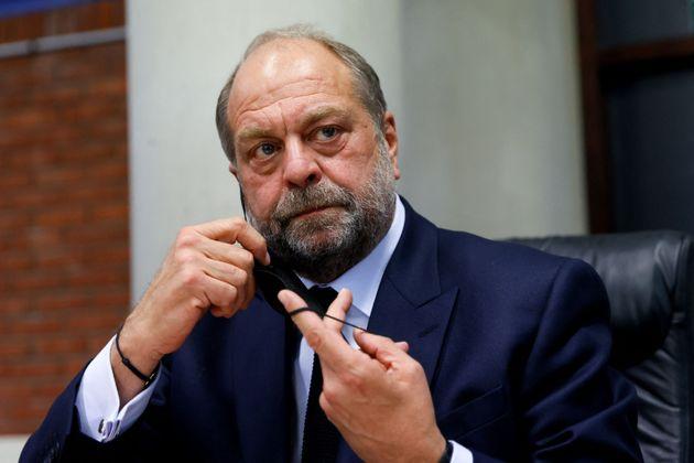 Le ministre de la Justice, ici lors d'un déplacement à Bobigny est pressenti pour être...