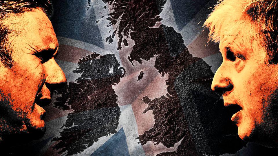 Kier Starmer and Boris Johnson