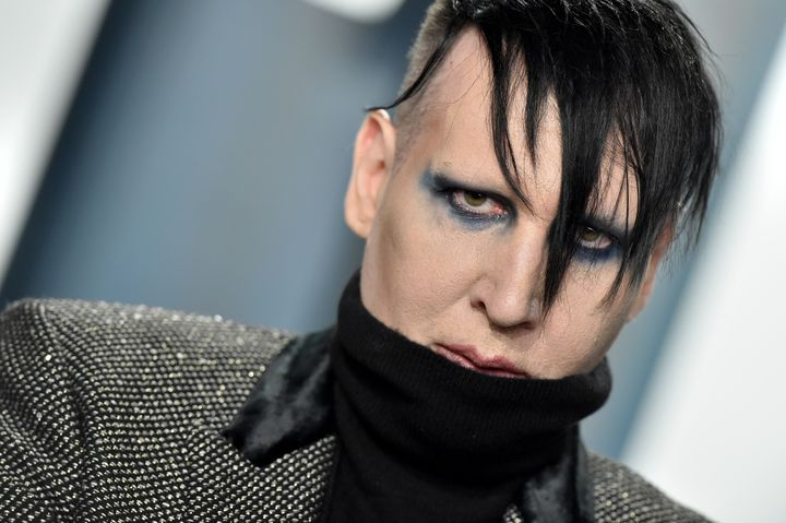 In an interview with People, Ashley Morgan Smithline accused Marilyn Manson, seen here in February 2020, of repeated physical