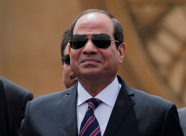 5 Mαϊου 2019. Ο Αιγύπτιος Πρόεδρος Αμπντέλ Φατάχ αλ-Σίσι σε εκδήλωση στο Σουέζ. REUTERS/Amr Abdallah...