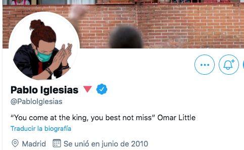 Captura de la cuenta en Twitter de Pablo