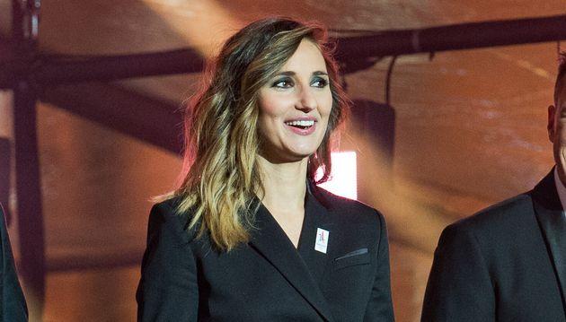 Marie Portolano lors d'une cérémonie pour les Jeux Olympiques de Paris 2024, à...
