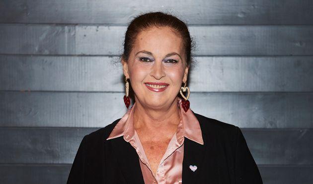Carla Antonelli en la presentación del festival de cine LGTB