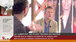 Joaquín Prat define así a Ayuso y Monedero interrumpe 'Cuatro al día'
