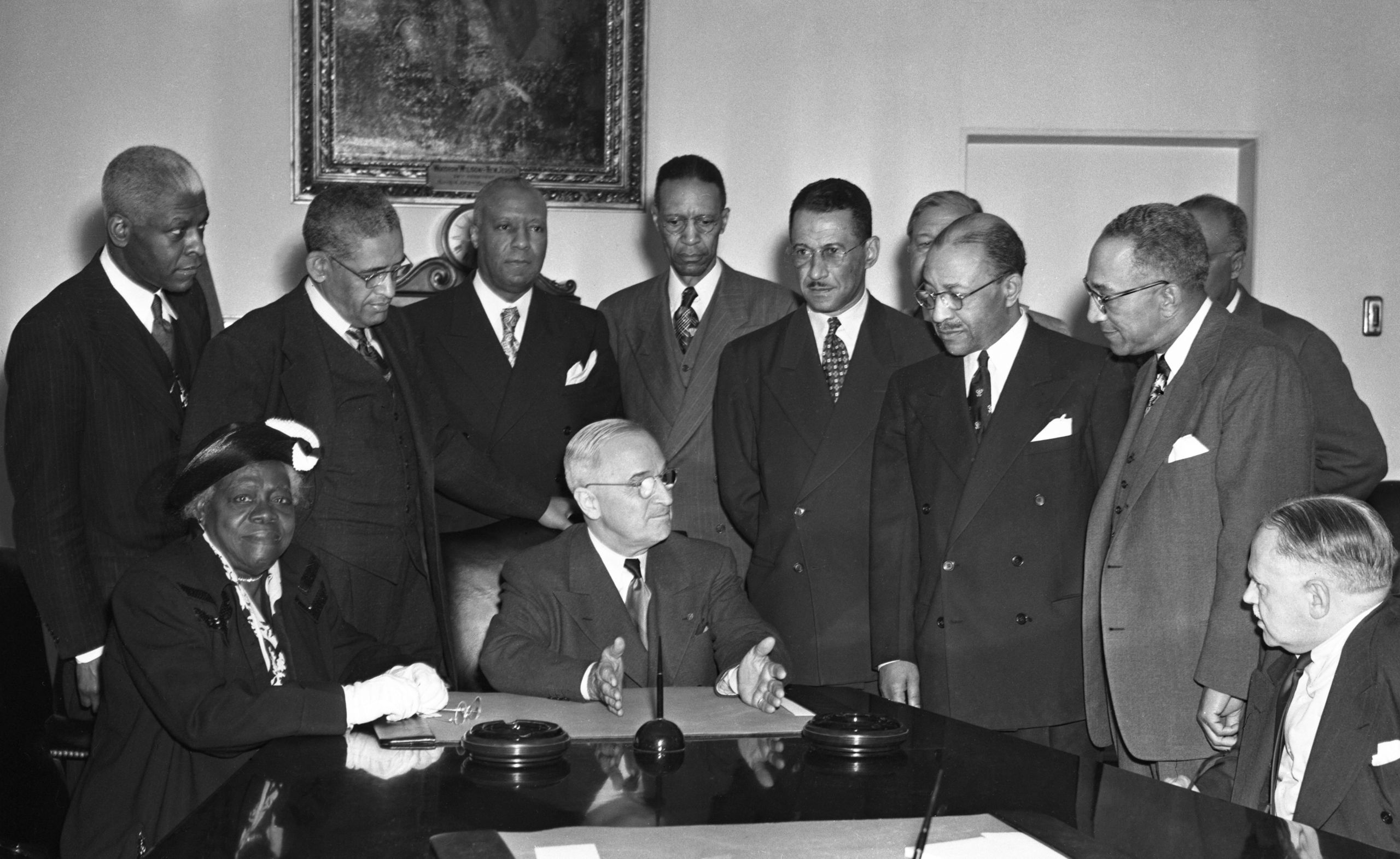 Civil rights leaders lobbied presidents, including Harry Truman, to increase Black representation in government jobs.