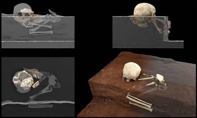 Reconstrucción virtual del enterramiento humano más antiguo de