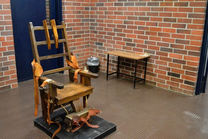 This 2019 file photo, provided by the South Carolina Department of Corrections shows the state's electric chair in Columbia,