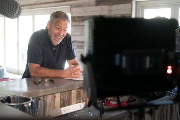 A behind-the-scenes snap of George Clooney on