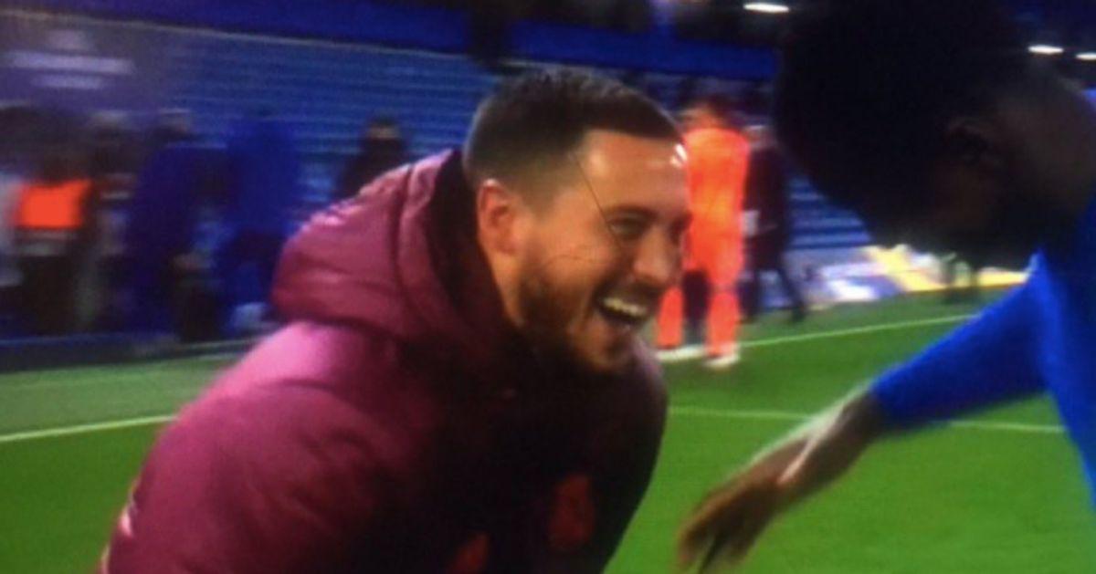 La vidéo d'Eden Hazard, mort de rire après l'élimination du Real face à Chelsea, ne passe pas