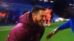 La vidéo d'Eden Hazard, mort de rire après l'élimination du Real face à Chelsea, ne passe