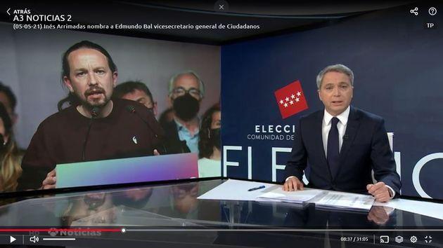 Vicente Vallés, en 'Antena 3
