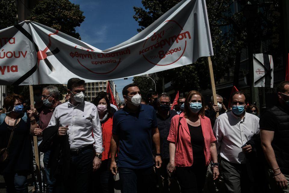 Απεργιακή συγκέντρωση για τον εορτασμό της εργατικής Πρωτομαγιάς από την ΑΔΕΔΥ και το Εργατικό Κέντρο...