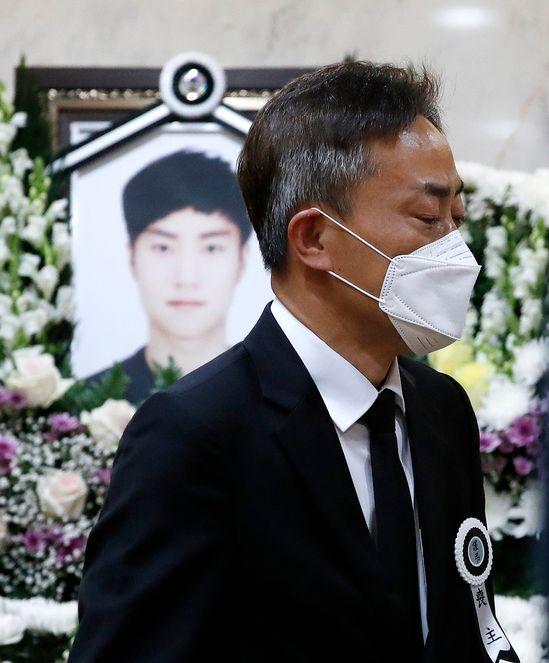 고 손정민 씨 장례식에서 아버지 손현