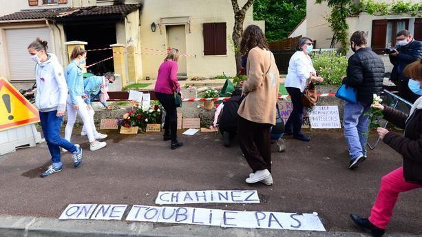 L'hommage à Chahinez, 31 ans, assassinée par son mari, mardi 5 mai à Mérignac