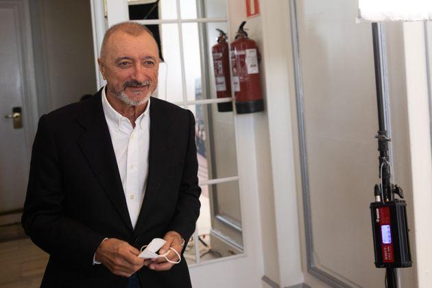 Arturo Pérez-Reverte, el pasado mes de octubre durante la presentación de su libro 'Línea de