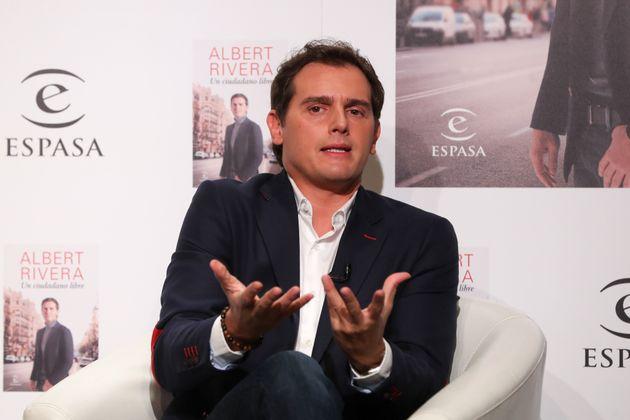 Albert Rivera, durante la presentación de su