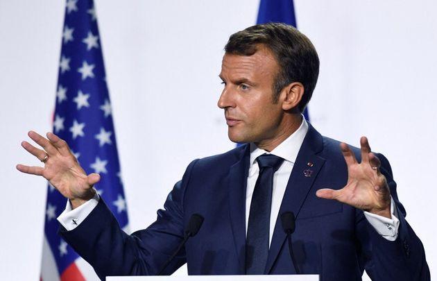 Emmanuel Macron levée brevet covid (photo d'illustration prise à Biarritz en août