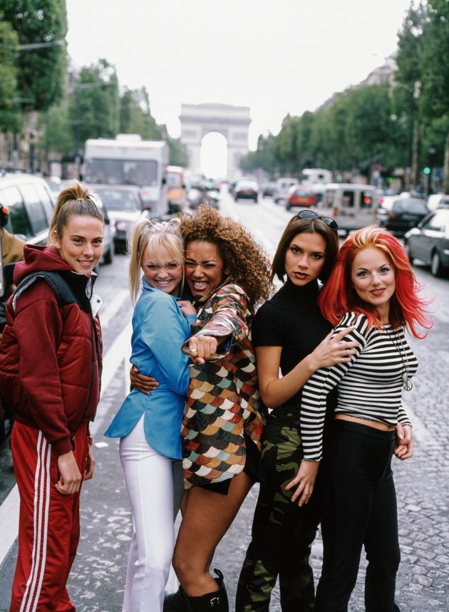 The Spice Girls pictured in Paris back in
