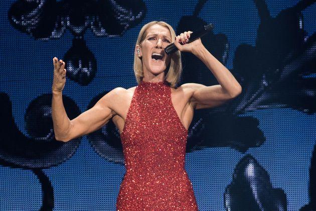 La chanteuse Céline Dion, lors de sa tournée mondiale