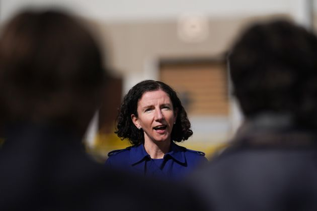 Anneliese Dodds, shadow chancellor of the exchequer, is thought not to have landed any blows on Rishi