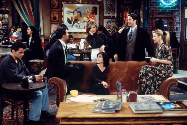 Courtney and the Friends cast during the show's second
