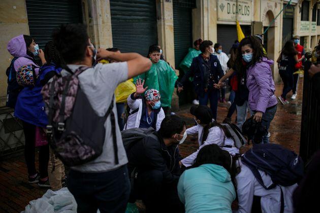Un herido en las protestas de