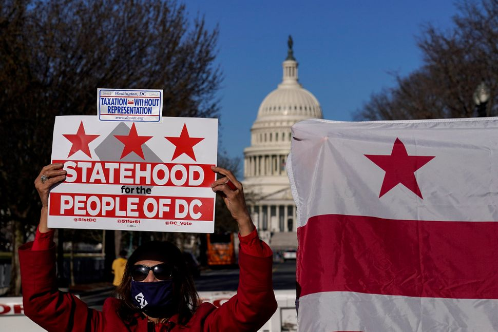 D.C. residents rallied this year for the passage of H.R. 51, the statehood bill that the House approved in April. The bill fa