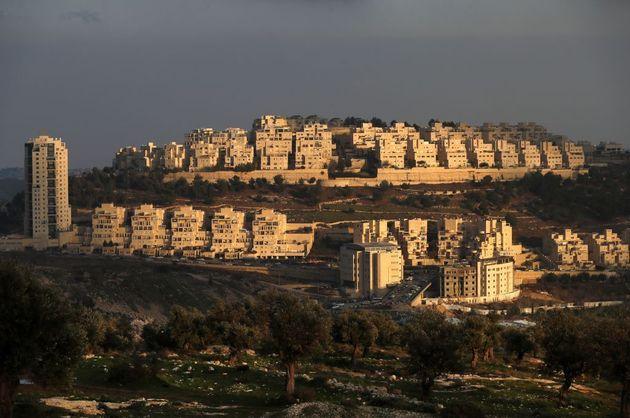 Asentamiento israelí en Har Homa, en