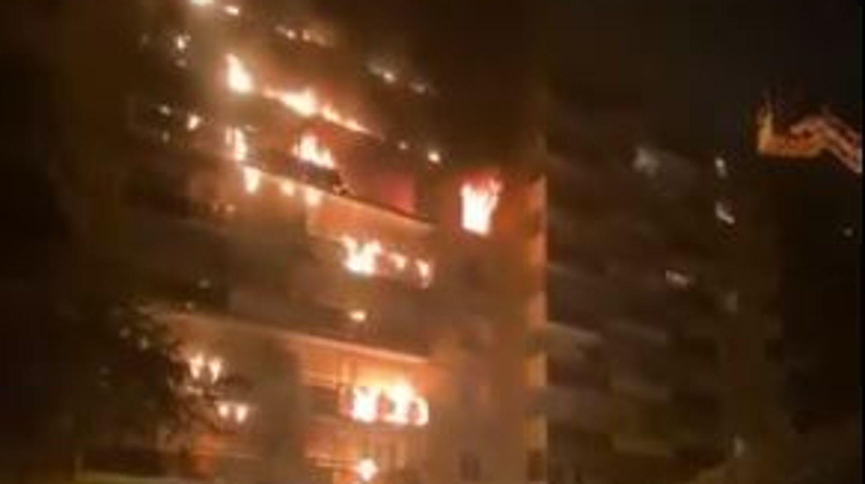 À Sainte-Foy-lès-Lyon, un incendie ravage un immeuble
