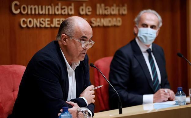 Los responsables sanitarios de Madrid Antonio Zapatero y Enrique Ruiz