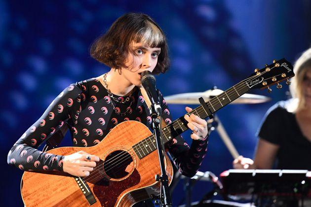 La chanteuse Claire Pommet, alias Pomme, lors des Victoires de la Musique en février 2020.